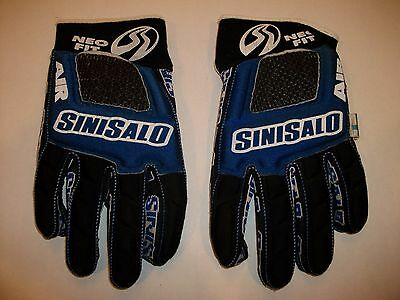 Vintage Sinisalo Gloves Air Neo Fit Blue Size 9 Nice Made In Finland