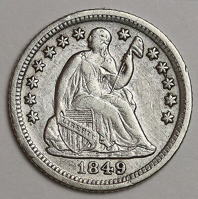 1849-o Liberty Seated Half Dime.  Clashed Die Obverse.  X.F.  112325