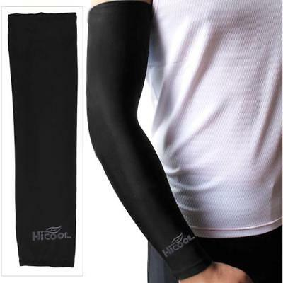2 pz Manicotti Maniche di Braccia Armsleeves Anti-UV Nero Golf Tennis