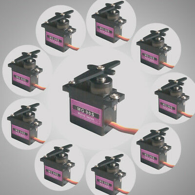 1/4/10pcs Metal Gear RC Micro Servo 9g MG90S for Trex 450 RC Robot Helicopter