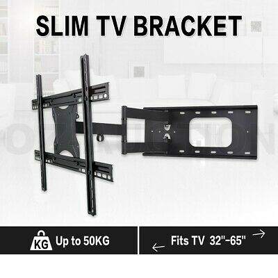 "32""-65"" Full Motion VESA TV Bracket Plasma Wall Mount Secure 180 Degrees Swivel"