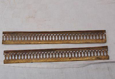 2 Reclaimed Brass Or Bronze Furniture Decorations Mounts Finishers Etc - As Is
