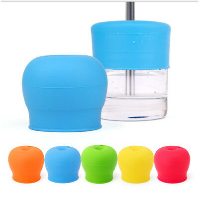 Kids Silicone Sippy Lid Cap Spill Proof Stretchable Beverage Bottle Cup Cover