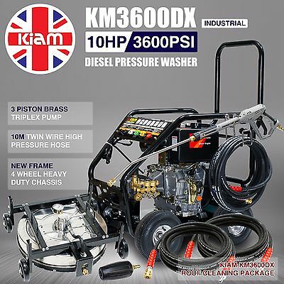 Kiam KM3600DX Diesel Jet Washer Pressure Roof Cleaning Pack Tile Adjustable