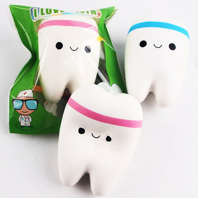 Funny Slow Rising Squishies Cute Tooth Kawaii Scented Soft Squishy Charms Toy