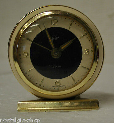 Original 50er 60er Table Clock Alarm Clock Beige Manual Winding Clock 50s 60s