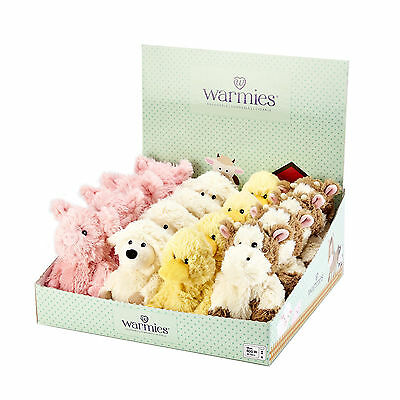 Warmies Mini Cozy Plush Microwavable Bedtime Farm Themed Teddy Heatable Toy Gift
