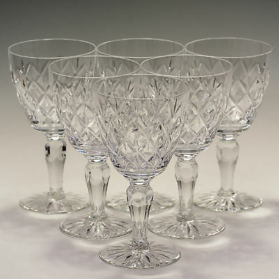 Royal Albert 6 Six large 10 fl oz Wine Goblets / Glasses - signed