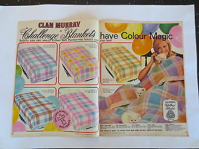 Vintage advertising original 1960s Australian ad CLAN MURRAY WOOL BLANKETS
