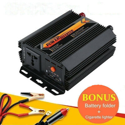 Pure Sine Wave Power Inverter 1000W 1500W 12V-240V LCD For Toyota Corolla Hilux