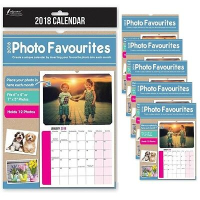 5 x PERSONALISE Your Calendar 2018 with Your Own Photos Month Calender New Year