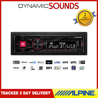 ALPINE UTE-72BT Car Stereo Radio Player Mechless Bluetooth, USB for iPod iPhone
