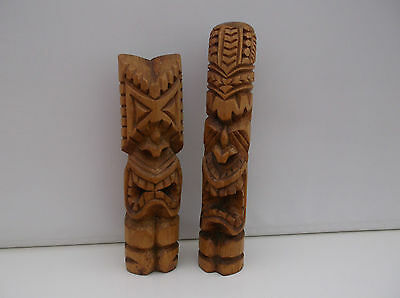 2 Holzfiguren /  Sculptures / Ornaments / Tiki Carvings from Nuku'alofa Tonga