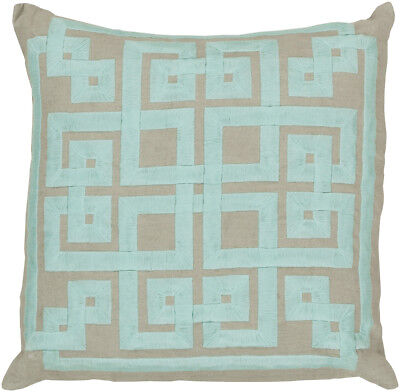 QUEEN STANDARD Tommy Hilfiger Home Anchor Lattice Cotton Bed Pillow PAIR