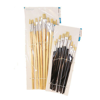XL Artists Paint Brush Set: 9-12pc / Flat (Drawing Paint Canvas Landscape Print)