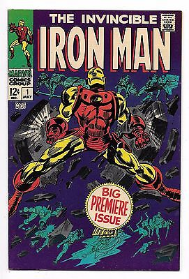 Iron Man 1, Vf/nm (9.0), 1967 Marvel, 1St Issue Of His Own Magazine, Classic Cvr
