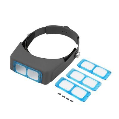 Headband Head Wearing Jeweler Reading Magnifier Magnifying Glass Loupe GT