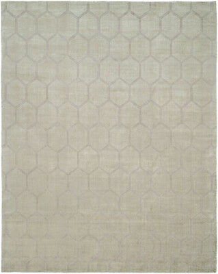 Kalaty Gray Diamonds Rupees Tiled Repeat Contemporary Area Rug Geometric AV-196