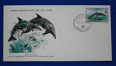 Turks & Caicos (383) 1979 Rough-toothed Dolphin WWF FDC