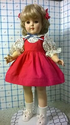 "HARD PLASTIC IDEAL 19"" P92 TONI DOLL in NEW CLOTHES by SSO + SHOES / RAYON SOCKS"