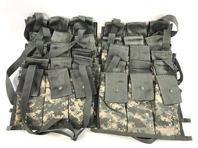 Set of 10 ACU 6 Magazine Bandoleer Pouch, MOLLE II, 5.56 Mag Army Digital Camo