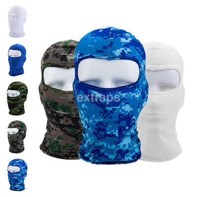 Outdoor Full Face Mask Lycra Balaclava Thin Motorcycle Cycling Ski CS Mask US