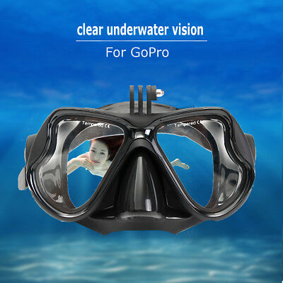 Camera Mount Swimming Diving Mask Oceanic Snorkel Goggles Glasses For GoPro
