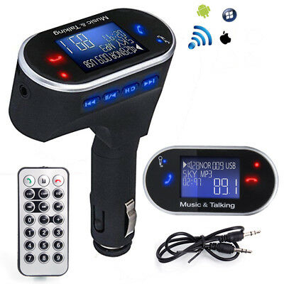 Bluetooth FM Transmitter MP3 Player Wireless Radio Adapter USB Charger Car Kit