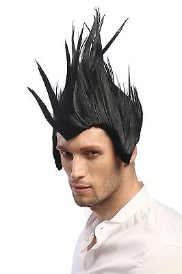 Wig Punk Mohawk Mohican Iro Anarchy Black//Red Lm-420-p103//Pc13 Carnival