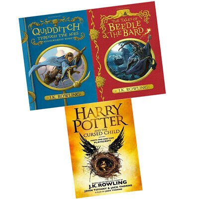 Harry Potter & Tales of Beedle the Bard 3 Books Collection Set J.K. Rowling New