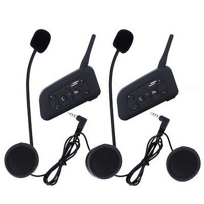 2PCS V6 1200M BT 6 RiderBluetooth Motorcycle Helmet Intercom Interphone Headset