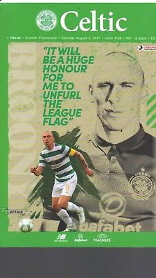 Celtic v Hearts August 5th 2017 Mint New Official Programme Flag Day Special