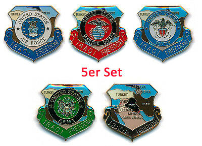 Sammlung Iraqi Freedom Irak Frieden 5er Set USA Button Badge Pin Anstecker 0780