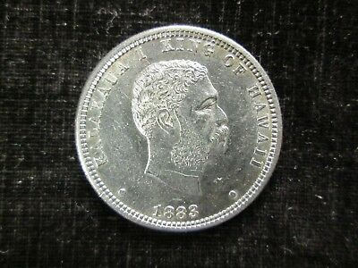 1883 Hawaii Quarter Dollar Choice AU