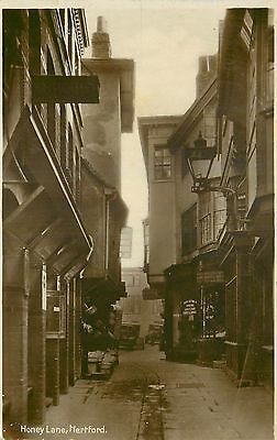 Angleterre Carte Photo Honey Lane Hertford