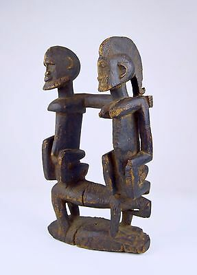 Dogon Masterpiece ~ A Very Old Primordial Couple on Horseback, African Art