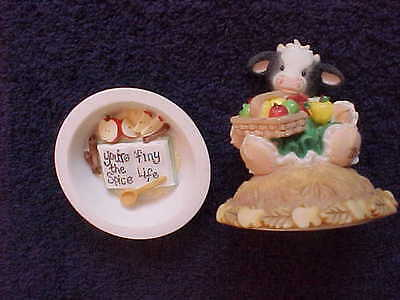 Mary's Moo Moos You're the Spice of My Life 2 piece cow figurine c1998 #372730