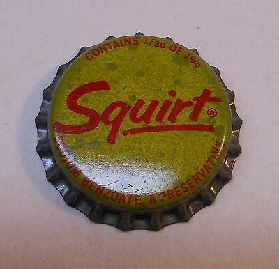 Vintage Old Squirt #1..cork..unused..Soda Bottle Cap