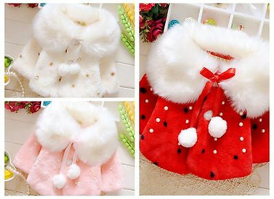 Newborn Infant Baby Girls autum Outerwear cappa Coat Warm Winter Clothes