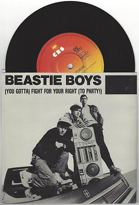 "Beastie Boys ""Fight For Your Right/Paul Revere"" 7"" Orig Aussie LL Cool J Run DMC"