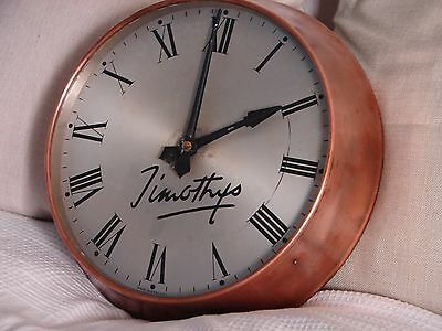 12″ Gents Of Leicester Vintage Industrial Copper Cased Factory Clock