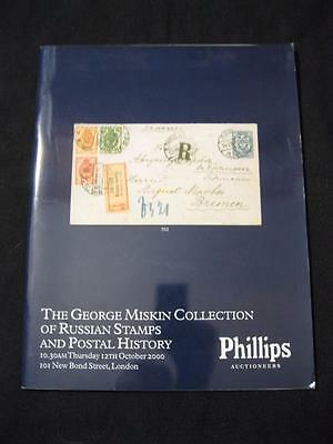Phillips Auction Catalogue 2000 Russia Stamps Postal History 'miskin' Collection