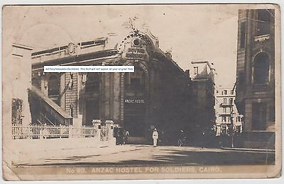 On Active Service Ww1 Postcard Anzac Hostel For Soldiers Cairo To R.a.m.c. 1917
