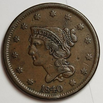 1840 Large Cent.  X.F.  107484