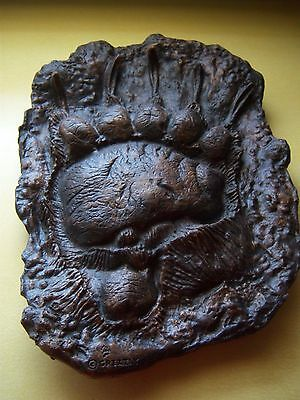 Grizzly Bear Paw Print Plaster Wall Hanging
