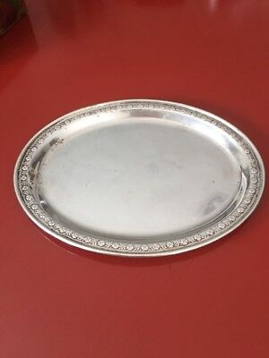 Sterling Silver Small Oval Tray Repousse