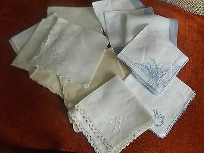 Mixed little lot of  13  Vintage Hankies and Napkins