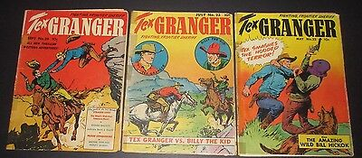 TEX GRANGER #22,23,24 Fighting Frontier Sheriff! Classic Dell Western Golden-Age
