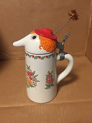 Utica Club Schultz & Dooley THE COUNTESS with flower Beer Stein WEBCO MINT
