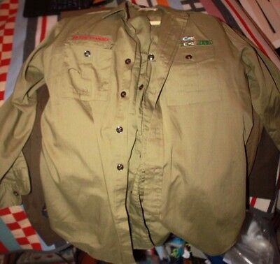 Vintage 1970 Boy Scouts of America Uniforms and patches Philmont Order of Arrow